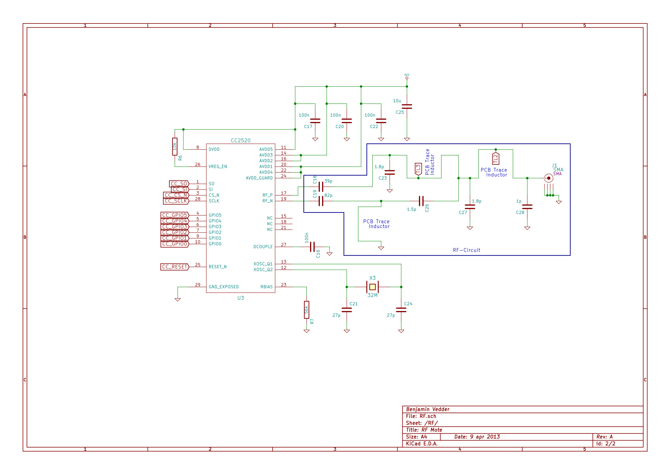 Cc2520 And Stm32 Rf Boards Benjamins Robotics Ve Also Been Looking For The Schematics Gerber Files But They Sch P2 Kicad Are Here
